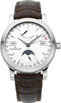 Timepieces:Wristwatch, Jaeger LeCoultre 147.8.41.S Master Calendar Automatic With Power Indicator. ...