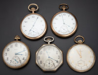 A Lot Of Five Elgin 12 Size Pocket Watches