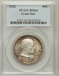 Commemorative Silver, 1922 50C Grant With Star MS64 PCGS....
