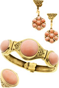 Estate Jewelry:Suites, Coral, Gold Jewelry Suite, Cellini. ...
