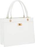 Luxury Accessories:Bags, Chanel White Caviar Leather Small Tote Bag with Gold Hardware. ...