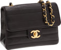 Luxury Accessories:Bags, Chanel Black Lambskin Leather Horizontal Quilt Mini Single Flap Bagwith Gold Hardware. ...