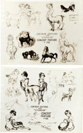 animation art:Model Sheet, Fantasia Centaur Sketches Model Sheet Group (Disney, c.1938).... (Total: 2 Items)