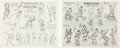 animation art:Model Sheet, Pinocchio Model Sheet Group (Disney, c. 1938).... (Total: 2 Items)