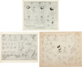 animation art:Model Sheet, Donald Duck Model Sheet Group (Disney, c. 1930s).... (Total:3 Items)