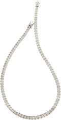 Estate Jewelry:Necklaces, Diamond, Platinum Necklace. ...