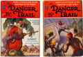 Pulps:Adventure, Danger Trail Group (Dell, 1926) Condition: Average VG.... (Total: 2 Items)