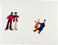 Animation Art:Production Cel, Yellow Submarine George, Paul, and Captain Fred ProductionCel Animation Art Group (UA/King Features Syndicate, 1968)....(Total: 2 Original Art)