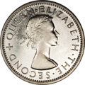 Rhodesia & Nyas: , Rhodesia & Nyas: Elizabeth II 2 Shillings 1955, KM6, copper-nickel, gem Proof, only 10 pieces minted in this metal! Very rare....