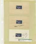 Explorers:Space Exploration, Lot of Nine Astronaut Signatures, including: Lee Morin, PeggyWhitson, Stephen Frick, Patrick Forrester, Scott Kelly, John P...(Total: 9 Item)