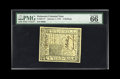 Colonial Notes:Delaware, Delaware January 1, 1776 5s PMG Gem Uncirculated 66 EPQ. Most ofthe examples we have handled feature tight margins. This pi...