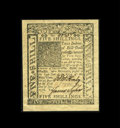 Colonial Notes:Delaware, Delaware January 1, 1776 5s Gem New. A very broadly marginedexample of this issue which has bold signatures, superb print q...