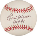 Autographs:Baseballs, Earl Weaver Single Signed Baseball. ...