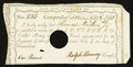 Colonial Notes:Connecticut, Connecticut Interest Certificate with Printed Denomination Feb. 3,1790 £1 Very Fine.. ...