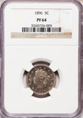 Proof Liberty Nickels: , 1896 5C PR64 NGC. NGC Census: (140/142). PCGS Population (211/95).Mintage: 1,862. Numismedia Wsl. Price for problem free N...