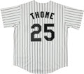 Baseball Collectibles:Uniforms, Jim Thome Signed Chicago White Sox Jersey....