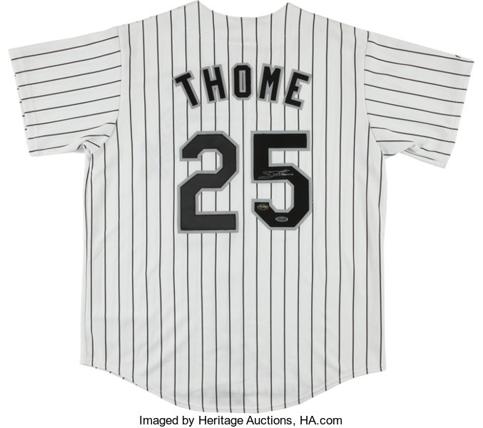 more photos 510e2 6907d Jim Thome Signed Chicago White Sox Jersey.... Baseball ...