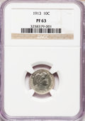 Proof Barber Dimes: , 1913 10C PR63 NGC. NGC Census: (32/109). PCGS Population (52/121).Mintage: 622. Numismedia Wsl. Price for problem free NGC...