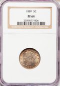 Proof Liberty Nickels: , 1889 5C PR64 NGC. NGC Census: (226/299). PCGS Population (279/296).Mintage: 3,336. Numismedia Wsl. Price for problem free ...