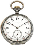 Timepieces:Pocket (post 1900), Tiffany & Co. Minute Repeater Niello Enameled Case, circa 1905. ...