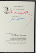 Books:Fine Press & Book Arts, [Limited Editions Club]. SIGNED LIMITED EDITION. Ray Bradbury.The Martian Chronicles. LEC, 1974. One of 2,000...