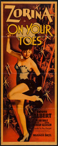 """Movie Posters:Musical, On Your Toes (Warner Brothers, 1939). Insert (14"""" X 36""""). Musical.. ..."""