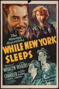 "Movie Posters:Crime, While New York Sleeps (20th Century Fox, 1938). One Sheet (27"" X41""). Crime.. ..."