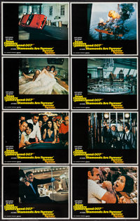 "Diamonds are Forever (United Artists, 1971). Lobby Card Set of 8 (11"" X 14""). James Bond"