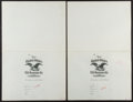 Miscellaneous:Other, United States Life Insurance Co. Policy New York, NY Specimens TwoExamples. ... (Total: 2 items)