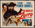 """Movie Posters:Swashbuckler, The Mark of Zorro (20th Century Fox, R-1958). Half Sheet (22"""" X 28"""") Style A. Swashbuckler.. ..."""