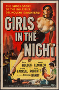 """Movie Posters:Crime, Girls in the Night (Universal International, 1953). One Sheet (27""""X 41""""). Crime.. ..."""