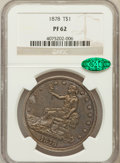 Proof Trade Dollars, 1878 T$1 PR62 NGC. CAC....