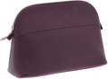 Luxury Accessories:Accessories, Hermes Two-Tone Raisin and Cyclamen Epsom Leather Bolide ClutchCosmetic Case. ...