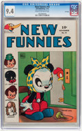 Golden Age (1938-1955):Humor, New Funnies #93 File Copy (Dell, 1944) CGC NM 9.4 Cream to off-white pages....