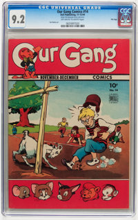 Our Gang Comics #14 File Copy (Dell, 1944) CGC NM- 9.2 Off-white to white pages