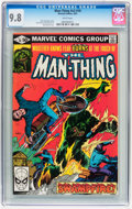 Modern Age (1980-Present):Horror, Man-Thing V2#10 (Marvel, 1981) CGC NM/MT 9.8 White pages....