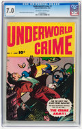 Golden Age (1938-1955):Miscellaneous, Underworld Crime #1 (Fawcett Publications, 1952) CGC FN/VF 7.0 Off-white to white pages....
