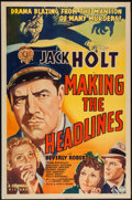 """Movie Posters:Crime, Making the Headlines (Columbia, 1938). One Sheet (27"""" X 41"""").Crime.. ..."""