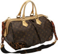 Luxury Accessories:Bags, Louis Vuitton Limited Edition Monogram Leopard Gold, Lizard, Black Patent & Ponyhair Stephen Bag. ...