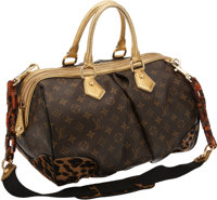 Louis Vuitton Limited Edition Monogram Leopard Gold, Lizard, Black Patent & Ponyhair Stephen Bag