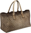 Luxury Accessories:Bags, Bottega Veneta Limited Edition Metallic Intrecciato Leather CabatTote Bag. ...