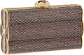 Luxury Accessories:Bags, Judith Leiber Full Bead Bronze Crystal Minaudiere Evening Bag. ...