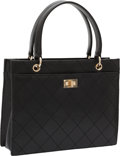 Luxury Accessories:Bags, Chanel Black Quilted Lambskin Leather Small Tote Bag with SilverHardware. ...