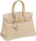 Luxury Accessories:Bags, Hermes 30cm Poussiere Matte Nilo Crocodile Birkin Bag with Gold Hardware. ...