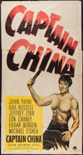 "Movie Posters:Adventure, Captain China (Paramount, 1950). Three Sheet (41"" X 79"").Adventure.. ..."