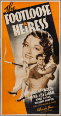 """Movie Posters:Comedy, The Footloose Heiress (Warner Brothers, 1937). Three Sheet (41"""" X79""""). Comedy.. ..."""