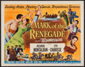 "Movie Posters:Adventure, Mark of the Renegade & Others Lot (Universal International,1951). Half Sheets (3) (22"" X 28""). Style A & Regular.Adventure... (Total: 3 Items)"