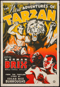"""Movie Posters:Serial, The New Adventures of Tarzan (Sack, 1935). One Sheet (27"""" X 41""""). Serial.. ..."""