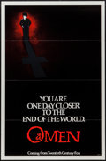 "Movie Posters:Horror, The Omen (20th Century Fox, 1976). One Sheet (27"" X 41"") Flat Folded, Ad Art Photos (5) (8"" X 10"") & Ad Mats (7) (12"" X 18"" ... (Total: 13 Items)"