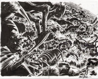 Steve Epting Fantastic Four #587 Splash Page Original Art (Marvel Comics